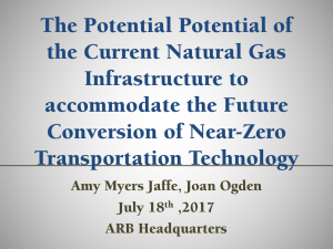 The Potential Potential of the Current Natural Gas Infrastructure to accommodate the Future Conversion of Near-Zero Transportation Technology