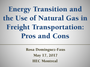 Energy Transition and the Use of Natural Gas in Freight Transportation: Pros and Cons