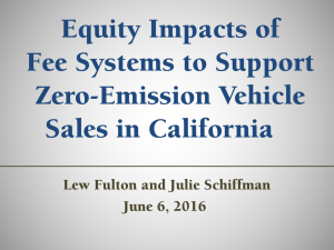 Equity Impacts of Fee Systems to Support Zero-Emission Vehicle Sales in California