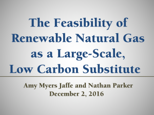 The Feasibility of Renewable Natural Gas as a Large-Scale, Low Carbon Substitute