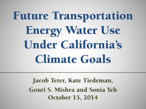Future Transportation Energy Water Use Under California's Climate Goals