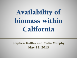 Availability of Biomass within California