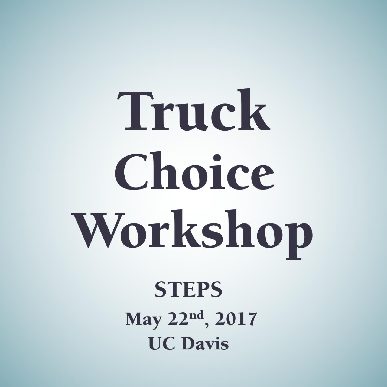 Truck Choice Workshop